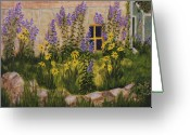 Rock Walls Greeting Cards - Window with a View Greeting Card by Kathleen Keller