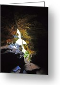 Cavern Greeting Cards - Windows at Rock House 2 Greeting Card by Peter  McIntosh