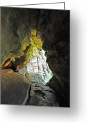 Cavern Greeting Cards - Windows at Rock House 4 Greeting Card by Peter  McIntosh
