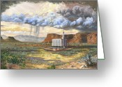 Hopi Greeting Cards - Windows of Heaven Greeting Card by Jeff Brimley