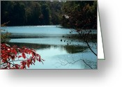 Kay Sawyer Greeting Cards - Winds of Fall  Greeting Card by Kay Sawyer