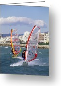 Surf Lifestyle Greeting Cards - Windsurfing Greeting Card by Alexis Rosenfeld