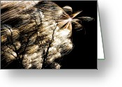 4th Photo Greeting Cards - Windy Fireworks Greeting Card by Gert Lavsen