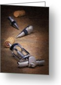 Stopper Greeting Cards - Wine Accessory Still Life Greeting Card by Tom Mc Nemar