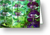 Dinner Greeting Cards - Wine And Dine Greeting Card by Will Borden