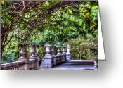 Banister Greeting Cards - Wine and Vine Greeting Card by Debbi Granruth