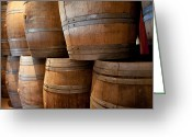 Corked Greeting Cards - Wine barrels Greeting Card by Eric Sch
