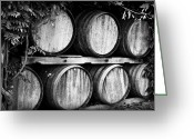 Scott Greeting Cards - Wine Barrels Greeting Card by Scott Pellegrin