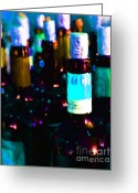 Vineyard Digital Art Greeting Cards - Wine Bottles - Study 2 Greeting Card by Wingsdomain Art and Photography