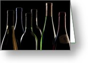 Vino Greeting Cards - Wine Bottles Greeting Card by Tom Mc Nemar