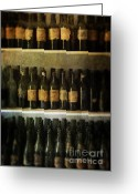 Imported Greeting Cards - Wine Collection Greeting Card by Jill Battaglia
