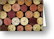 Alcoholic Greeting Cards - Wine corks Greeting Card by Elena Elisseeva