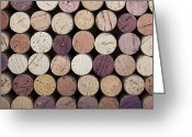 Stopper Greeting Cards - Wine corks  Greeting Card by Jane Rix