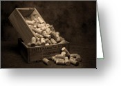 Stopper Greeting Cards - Wine Corks Still Life I Greeting Card by Tom Mc Nemar