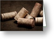 Stopper Greeting Cards - Wine Corks Still Life III Greeting Card by Tom Mc Nemar