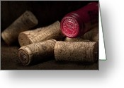 Stopper Greeting Cards - Wine Corks Still Life IV Greeting Card by Tom Mc Nemar
