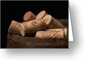 Stopper Greeting Cards - Wine Corks Greeting Card by Tom Mc Nemar