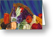 Conformist Greeting Cards - Wine Cornucopia Greeting Card by Gail Daley