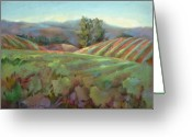 Purples Greeting Cards - Wine Country Greeting Card by Joan  Jones