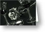 Wine For Two Greeting Cards - Wine For Two Greeting Card by Joana Kruse