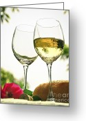 Bread Greeting Cards - Wine glasses Greeting Card by Elena Elisseeva