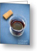 Photos Still Life Greeting Cards - Wine Tasting Greeting Card by Frank Tschakert