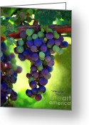 Violet Blue Greeting Cards - Wine to Be Art Greeting Card by Patrick Witz
