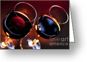 Candles Greeting Cards - Wineglasses Greeting Card by Elena Elisseeva