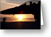 Assistance Greeting Cards - Wing Safety Office Chief Brings Greeting Card by Stocktrek Images