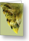 Sage Green Greeting Cards - Winged Greeting Card by Bonnie Bruno