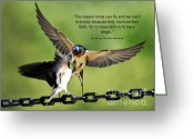 Inspriation Greeting Cards - Wings of Faith Greeting Card by Diane E Berry
