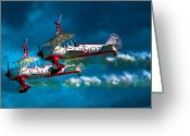 Daredevil Greeting Cards - Wingwalkers Greeting Card by Chris Lord