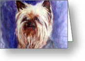 Lapdog Greeting Cards - Winston Greeting Card by Lia  Marsman