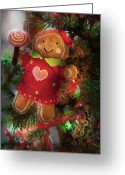 Fun Greeting Cards - Winter - Christmas - Little Miss Sunshine  Greeting Card by Mike Savad