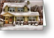 You Greeting Cards - Winter - Christmas - One cold winters morning Greeting Card by Mike Savad