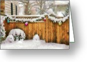 You Greeting Cards - Winter - Christmas - The Decorations are out  Greeting Card by Mike Savad