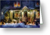 You Greeting Cards - Winter - Christmas - The night before Christmas  Greeting Card by Mike Savad