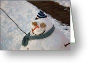 Hug Greeting Cards - Winter - Im ready for my closeup Greeting Card by Mike Savad