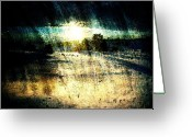 Brushes Digital Art Greeting Cards - Winter Dawn Greeting Card by Andrea Barbieri