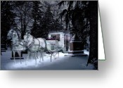 Haunted  Digital Art Greeting Cards - Winter Departure   Greeting Card by Tom Straub