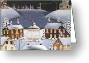 Gazebo Greeting Cards - Winter Festival Greeting Card by Catherine Holman
