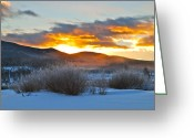 Bob Berwyn Greeting Cards - Winter Glow Greeting Card by Bob Berwyn