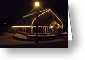 Anna Villarreal Garbis Greeting Cards - Winter Greenhouse Greeting Card by Anna Villarreal Garbis