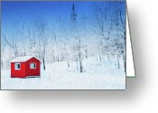 Safe Haven Greeting Cards - Winter Haven Greeting Card by Dominic Piperata