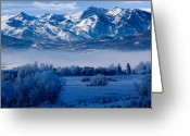 Forested Greeting Cards - Winter in Ogden Valley in the Wasatch Mountains of Northern Utah Greeting Card by Utah Images