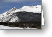 Snow-cap Greeting Cards - Winter in Summit County Colorado Greeting Card by Brendan Reals