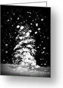 Snowy Night Greeting Cards - Winter in West Virginia Greeting Card by Lj Lambert