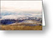 Landscape Photographs Greeting Cards - Winter Landscape Greeting Card by Kathy Jennings