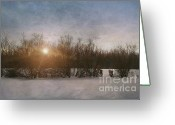 Alone Greeting Cards - Winter landscape  Greeting Card by Sandra Cunningham