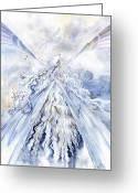 Ice Painting Greeting Cards - Winter Light Greeting Card by Janet Chui
